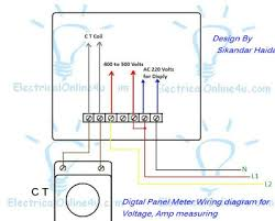 how to wire voltmeter ammeter and frequency meter hertz digital