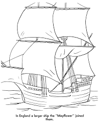 the pilgrims coloring pages the mayflower meets the pilgrims