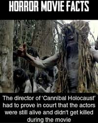 Horror Movie Memes - cannibal holocaust is the raddest horror movie meme by tweet