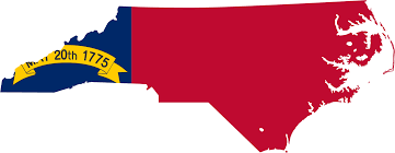 North Carolina State Map by North Carolina Flag Map U2022 Mapsof Net