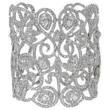 diamond bracelet cuff images Magnificent wide diamond cuff bracelet for sale at 1stdibs jpg