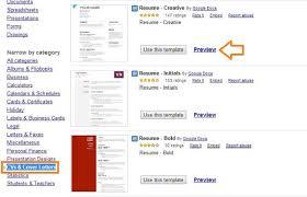 Drive Resume Template Google Doc Resume Template Resume Templates Google Docs Drive