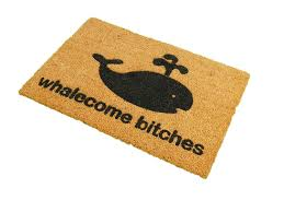 amazon com ckb ltd whalecome bitches novelty doormat unique