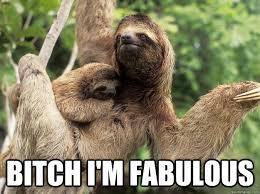 Sexy Sloth Meme - bitch i m fabulous fabulous sloth quickmeme