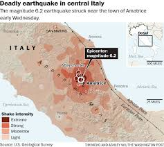 Italy Earthquake Map Why The Earthquake In Italy Was So Destructive The Washington Post
