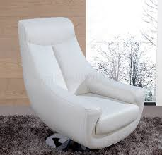 Leather Swivel Chair Lori Swivel Chair In White Leather By Whiteline Imports
