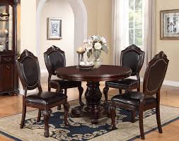 cherry dining room set 48 cherry wood pedestal dining table set poundex f2187