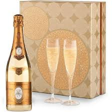 high end gift baskets louis roederer cristal chagne and glassware gift set wine