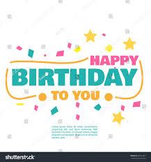 happy birthday vector fot greeting card stock vector 636431861