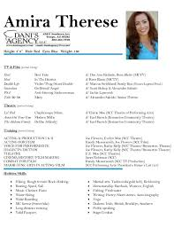 Actor Resume Template Acting Resume Template With Professional Actor Training Program