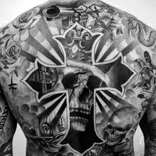 40 skull back designs for masculine ink ideas