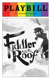 fiddler on the roof june 2016 playbill with rainbow pride logo