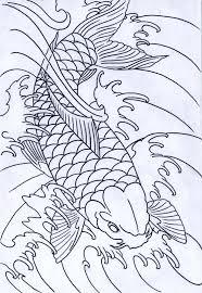 koi fish outline elaxsir