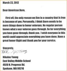 Thank You Letter Veterans honor flight letter exles http www valery novoselsky org