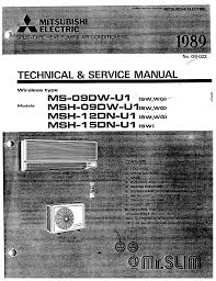 mitsubishi msh 18rv service manual