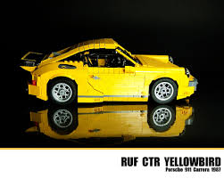 porsche ruf yellowbird lego ruf ctr yellowbird porsche 911 carrera 1987 flickr