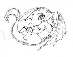 cute sweet baby dragon coloring kids fantasy