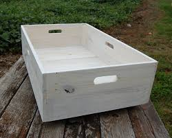 under bed storage rolling crate reclaimed wood white washes