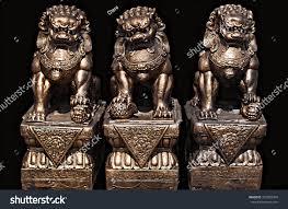foo lion statue asian statue guardian lion foo stock photo 372809764