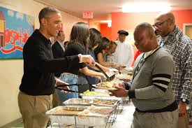 Washington Dc Thanksgiving Events When He Served Thanksgiving Meals To Homeless Veterans In