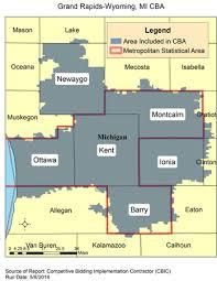 area code map of michigan cbic 2 recompete competitive bidding area grand rapids