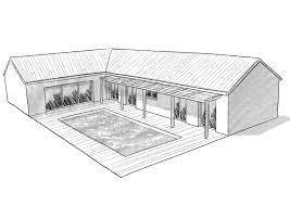 plan de maison en l avec 4 chambres plan maison avec 4 chambres et garage ooreka