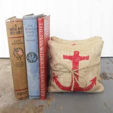 anchor petit feed sack pillow pair unique paper weight