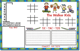 kids placemats create your own blogs placemats for kids