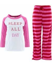 amazing deal on emme sleep all day s pink fleece pajamas