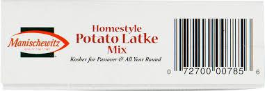 manischewitz latke mix manischewitz homestyle potato latke mix 6 oz walmart