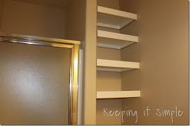 storage solution for small bathrooms diy bathroom shelves
