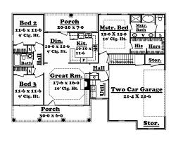 Colonial Style Floor Plans Colonial Style House Plan 3 Beds 2 Baths 1500 Sq Ft Plan 1059 4