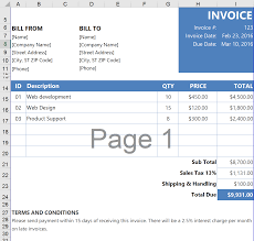 Free Excel Invoice Templates Invoice Templates Pack Pdf Word Excel Invoiceify