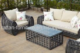 Outdoor Furniture Wicker Two Seater Chair Garden Sofa Set From - Wicker sofa sets