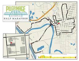 Columbus Route Map by Course Description U0026 Maps Columbus Pilgrimage Half Marathon U0026 5k