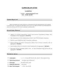 inspiration resume career objective for freshers examples for