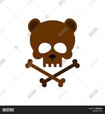 cute happy halloween logo cute bear skull with bones honey bear good skeletons head kind