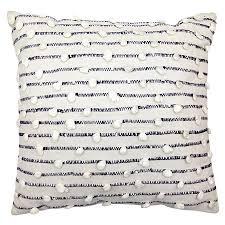 woven throw pillow 18x18 grey white threshold target