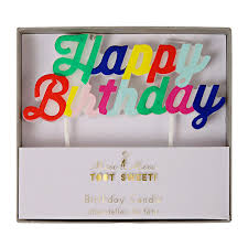 happy birthday candle colourful happy birthday candle by meri meri vibrant home