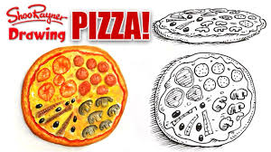 how to draw a pizza youtube