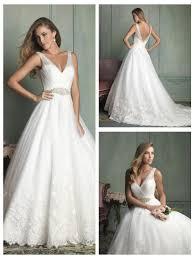 wedding dress sheer straps sheer straps v neck and v back gown wedding dress 2453755