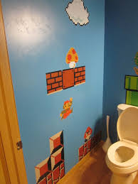 nerdy new bathroom my old school super mario toys from mc donalds in 1990