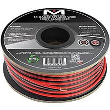 amazon com mediabridge 14awg 2 conductor speaker wire 100 ft
