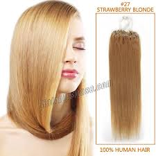 16 inch hair extensions inch 27 strawberry micro loop human hair extensions 100s 100g