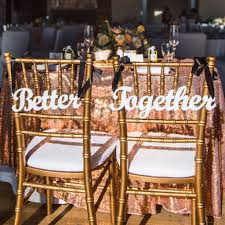 wedding chair signs better together wedding chair signs customized z create design