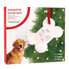 pawprints bone ornament pearhead