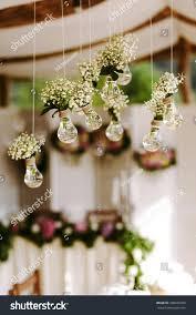 luxury original wedding floral decoration form stock photo