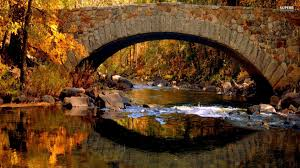 fall covered bridge desktop wallpaper fall covered bridge full
