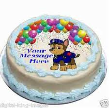 Paw Patrol decoration Chase Cake topper edible image icing REAL