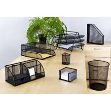 Black Wire Mesh Desk Accessories Osco Desk Accessories Stationery For Home Office Formyoffice